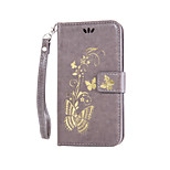 EFORCASE® Bronzing Butterfly Lanyard PU Phone Case for iphone6S plus/6plus/6S/6/SE/5S/5