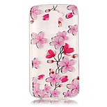 Rose Petals 3D Relief Feeling Super Soft Pack Transparent TPU Phone Case for LG K7/K8/K10