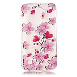 Capa traseira Transparentes / Other Flor TPU Macio Case Capa Para Samsung Galaxy LG K10 / LG K8 / LG K7