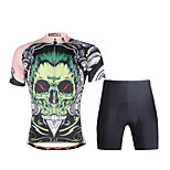 PaladinSport Women  Cycyling Jersey + Shorts Suit DT688 Green skeleton