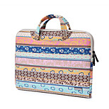 Pink Retro Bohemian Canvas Fabric Laptop Handbag For Macbook Air 11.6/13.3,Macbook 12,Macbook Pro 13.3/15.4