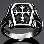 Band RingsJewelry Titanium Steel Fashionable / Punk Style Daily / Casual Black / Silver 1pc7 / 8 / 9 / 10 / 11 / 12 Men