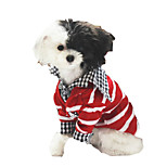 Gatos / Perros Suéteres Rojo / Negro Ropa para Perro Invierno / Primavera/Otoño Rayas Vacaciones Petstyle