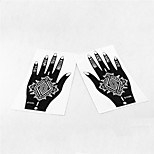 2pcs Henna & Airbrush Tattoo Stencil S103