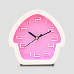 (Random color)cabin alarm clock fashion modelling lazy students little pointer plastic