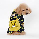 Dog Clothes/Jumpsuit Black / Pink / Yellow / Orange Winter Cartoon / Polka Dots Keep Warm, Dog Clothes / Dog Clothing