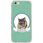 Para Capinha iPhone 6 / Capinha iPhone 6 Plus Estampada Capinha Capa Traseira Capinha Animal Rígida PC AppleiPhone 6s Plus/6 Plus /