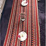 Mediterranean Cotton Linen Table Cloth Bohemian Red Dust Tablecloths (140 * 140cm)