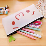 Bd03 Korea Silicone Transparent Pencil Cartoon Face Meng Yan Jun Pencil Box Cartoon Character Unisex