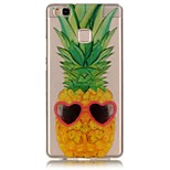 Pineapple Pattern Back Cover Transparent TPU Soft Case Cover For Huawei P9 / P9 Lite / P8 Lite