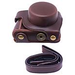 dengpin® PU lær kameraveske bag cover for panasonic gf8 12-32mm objektiv (assorterte farger)