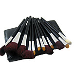 34 Makeup Brushes Set Synthetic Hair Full Coverage Wood Face ShangYang