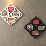 Combination Photo Frame 4 Diamond Shaped 6 Inch Wall Frames Personalized Photo Wall For Living Room