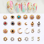 5pcs Nail Diamond Jewelry Random Color
