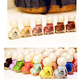 12pcs Heart-Shaped Candy Colored Nail Polish  Random Color