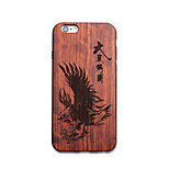 Natural Wood Eagle Black Bumper Ultra Thin Protective Back Cover iPhone Case for iPhone 6S Plus/6 Plus/6S/6