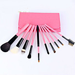 Hot Style 10 Wooden Handle Makeup Brush Sets