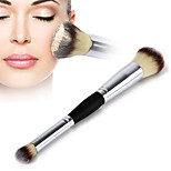 Hot Double Head Cosmetic Brush Contour Face Blush Eyeshadow Powder Foundation Makeup Brush New Arrival High Quality