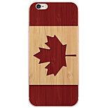 cartone animato Canada bandiera pc copertura dura per 6s iPhone di Apple plus / 6 plus / iPhone 6S / 6 / iphone Se / 5s / 5