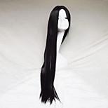 Cosplay Wig Black Color Carve One Meter Long Straight Hair Wig