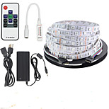 KWB 5 M 300 5050 SMD RGB Cortable / Control Remoto / Regulable / Conectable / Color variable W Tiras de Luces RGB DC12 V