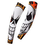 Men's Cycling Arm Warmers Unisex BikeBreathable Pathogenic Fire Styles Pattern Sunscreen Quick-drying Arm sleeve 1 Pair