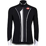 Sportif Vélo/Cyclisme Hauts/Tops Homme Manches longues Respirable / Vestimentaire / Pare-vent / Garder au chaud / Tissu Ultra Léger
