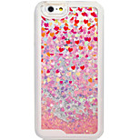 Flowing Quicksan Liquid/Pattern Hearts PC Hard Case Foundas For Apple iPhone 6s Plus/6 Plus/iPhone 6s/6/iPhone SE/5s/5