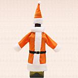 1pc vinho tampa garrafa saco de laranja chapéu de Santa roupas terno tabela do Natal decoração do partido do jantar