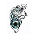 1pc Tattoo Sticker for Women Men Body Arm Art Design Eye Fish Bird Flower Pattern Waterproof Temporary Tattoo HB-389