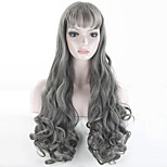 high quality grey wig long gray curly wigs synthetic front wig heat resistant cheap wigs cosplay women hair style