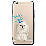 Back Cover Transparent/Pattern Dog TPU Hard Case For Apple iPhone 6s Plus/6 Plus/iPhone 6s/6/iPhone SE/5s/5