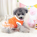 Dog Dress White / Orange Winter / Spring/Fall Casual/Daily Dog Clothes / Dog Clothing-Other