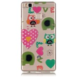 Owl Love Pattern Back Cover Transparent TPU Soft Case Cover For Huawei P9 / P9 Lite / P8 Lite