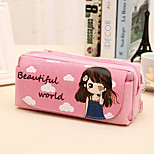 2016 Korea Cute Girl Student Minimalist Pencil Multilayer Stationery Pencil Box Large Capacity