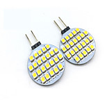 2PCS G4 24LED SMD3528 3W 200LM DC12V Warm White / Cool White LED Spotlight