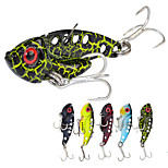 5pcs/lot Afishlure 7g/42mm Metal VIB with Treble Hook Artificial Lure Metal Spoon Fishing Lure
