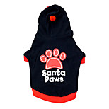Cat / Dog Hoodie Red / Black Winter / Spring/Fall Letter & Number Holiday, Dog Clothes / Dog Clothing