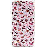 Cake Pattern Soft Borders+3D Basso-Relievo Backplane Combo Shockproof Phone Case for iPhone 6/6S/6 Plus/6S Plus