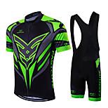 Sportivo Bicicletta/Ciclismo Maglietta + salopette / Set di vestiti/Completi Per uomo / Unisex Maniche corteTraspirante / Asciugatura