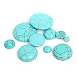 beadia 20pcs turquesa sintética cabochons cúpula de piedra de 12 mm perlas
