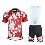 Cycling PaladinSport Men Shirt + Straps Shorts Suit BKT657 Red Skeleton