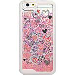 Für iPhone 6 Hülle / iPhone 6 Plus Hülle Mit Flüssigkeit befüllt / Muster Hülle Rückseitenabdeckung Hülle Herz Hart PC AppleiPhone 6s
