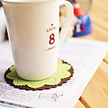 Carve Patterns Or Designs On Woodwork Silica Gel Cup Mat