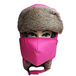 Chapka Hat / Fur Hat Ski Hat Women's / Men's Thermal / Warm Snowboard Polyester Red / Blue / Dark Pink / Orange / CamouflageSkiing /