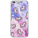 Colored Unicorn Pattern  Transparent TPU Material Phone Case for iPhone 6 6S  6 Plus 6S Plus
