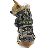 Cat / Dog Coat Camouflage Color Winter Britsh / Camouflage Waterproof, Dog Clothes / Dog Clothing