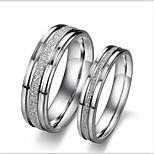 Band Rings,Jewelry Titanium Steel Fashionable Daily / Casual Silver 1pc,5 / 6 / 7 / 8 / 9 / 10 / 11 / 12 Couples