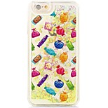 Candies Flowing Quicksand Liquid/Printing Pattern PC Hard Back Case For iPhone 6s Plus/6 Plus/6s/6/SE/5s/5