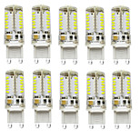 10PCS G9 57LED SMD3014 300-450LM Warm White/White /Natural White Decorative/Waterproof DC/AC10-20V LED Bi-pin